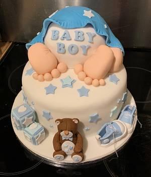 Baby shower cake - Cake by Squidge