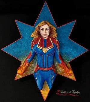 Captain Marvel  - Cake by Catia guida