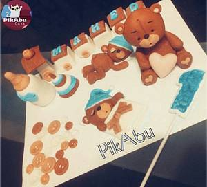 Baby shower cake - Cake by Bebo