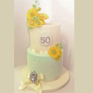 50th birthday celebrations - Cake by sophia haniff