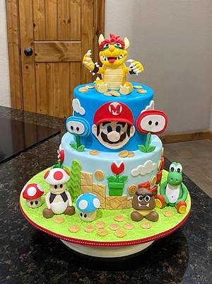Mario Brothers Cake - Cake by Cakes For Fun