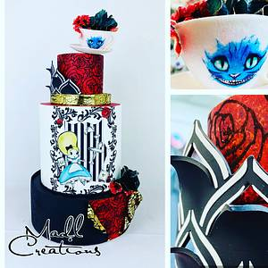 Alice wonderland luxury - Cake by Cindy Sauvage