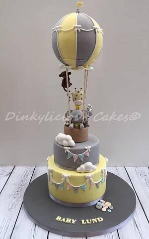 Hot Air Balloon Cake - Cake by Dinkylicious Cakes