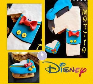 "Cream Tart 1 BDay ""Paperino Mattia"" - Cake by CupClod Cake Design"