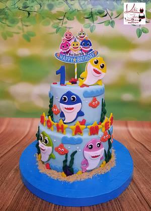 """""""Baby Shark cake"""" - Cake by Noha Sami"""