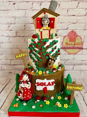 Red riding hood Cake - Cake by Maro Cakes