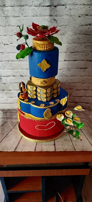 Texture cake - Cake by Dr RB.Sudha