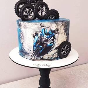 Suzuki biker - Cake by Emily's Bakery