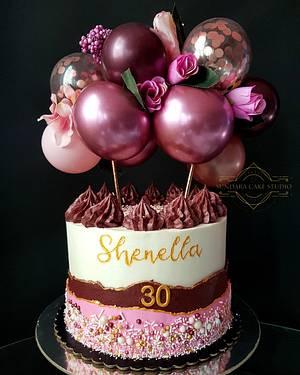 Balloon Garland Cake - Cake by Sherikah