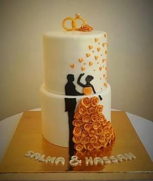 Wedding cake - Cake by Maysa