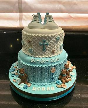 Ronan's Christening Cake - Cake by Margaret Lloyd