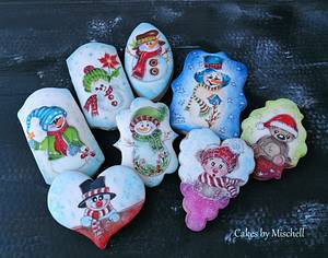 Hand painted christmas gingerbreads - Cake by Mischell