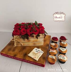 flower box cake - Cake by mona ghobara/Bonboni Cake