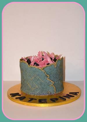 Sugar sheet technique birthday cake - Cake by Konstantina - K & D's Sweet Creations