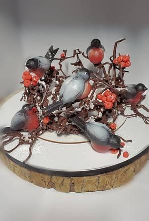 CHOCOLATE CHRISTMAS BIRDS - Cake by Viktory