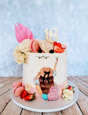 Cake for a traveler - Cake by alenascakes