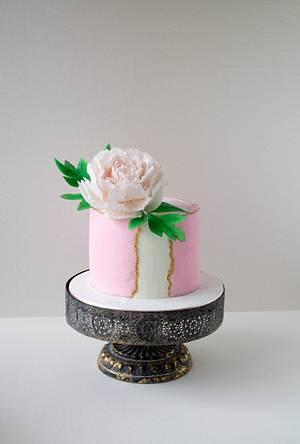 sugar peony - Cake by Dimi's sweet art