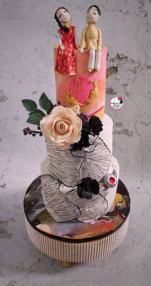 Wedding Cake For A Blind Couple - Cake by Sayantanis Culinary Delight