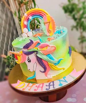 Unicorn cake - Cake by Arti trivedi