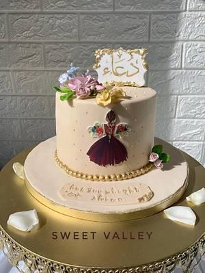 Girly Floral Cake - Cake by Nana Ahmed