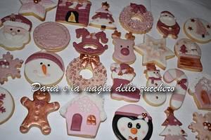 Rose Christmas cookies - Cake by Daria Albanese