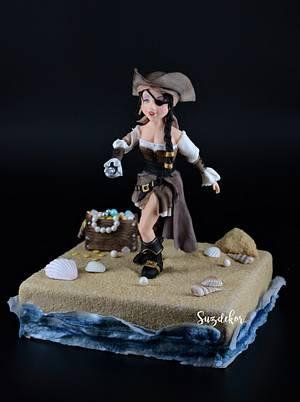 Piratelady - Cake by Susanne Zöchling