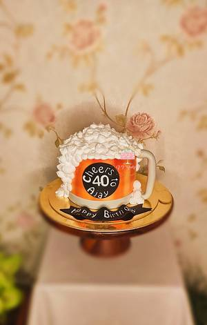 Beer mug cake - Cake by Arti trivedi
