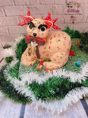 Christmas reindeer - Cake by Wafaa mahmoud