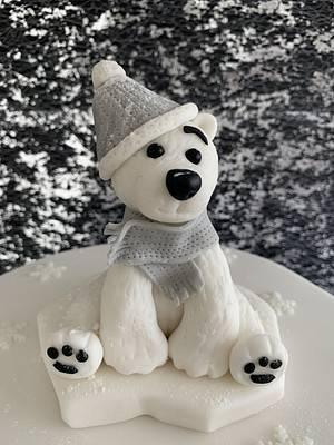 Christmas Polar Bear. - Cake by Penny Sue