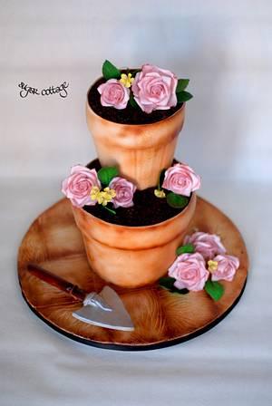 espérer - Cake by Sugar cottage by pooja