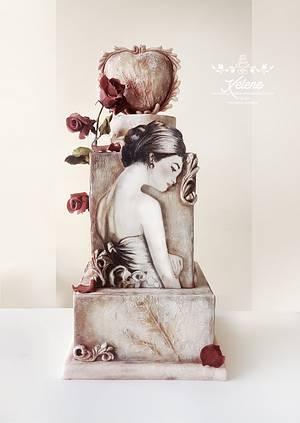 Corazón de piedra - Cake by Xelene Atelier