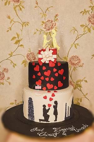 Engagement cake - Cake by Arti trivedi