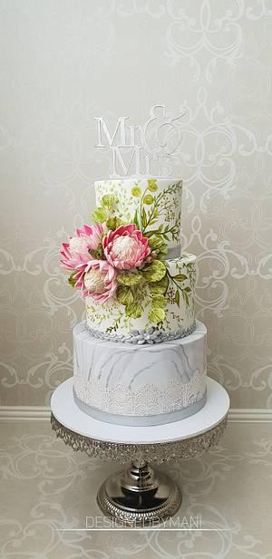 Wedding cake  - Cake by designed by mani