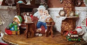 Santa's pj's - Cake by Inspiration by Carmen Urbano