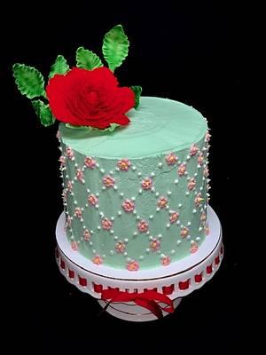 Rose Spring Cake - Cake by Sharp Sweets