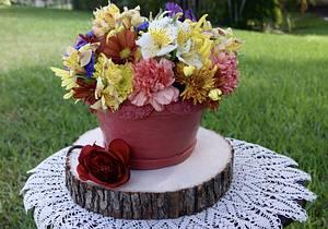 Flowerpot Cake - Cake by Margie