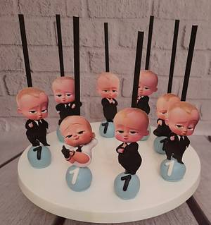 """Baby Boss cake pops "" - Cake by Noha Sami"