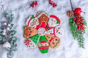 Christmas plate - Cake by Inny Tinny