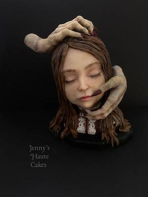 Girl with Hands - Creepy World Collaboration  - Cake by Jenny Kennedy Jenny's Haute Cakes
