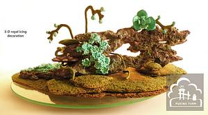 Heart of the Forest - decor - Cake by PUDING FARM