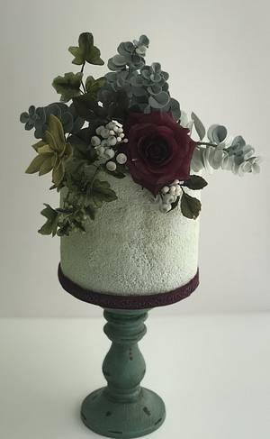 foliage and rose - Cake by Griselda de Pedro