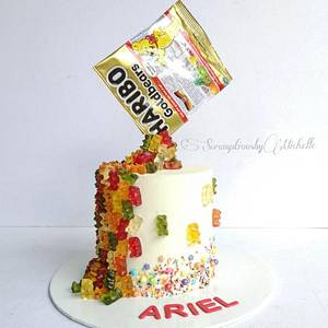Gravity defying Haribo Gummy Bears themed cake - Cake by Michelle Chan