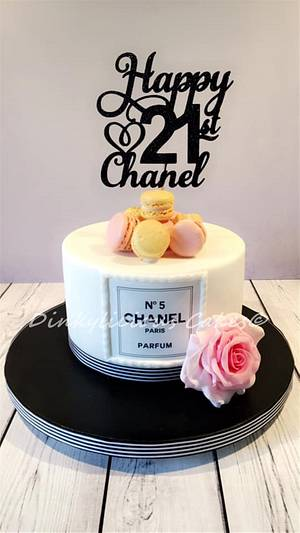 Chanel No5 Cake - Cake by Dinkylicious Cakes