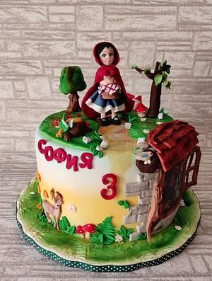 Little Red Riding Hood and the wolf cake - Cake by Rositsa Lipovanska