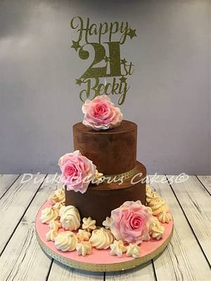 Becky's 21st Birthday Cake - Cake by Dinkylicious Cakes
