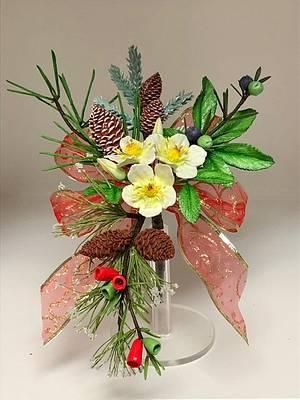 Christmas rose - Cake by Patricia M