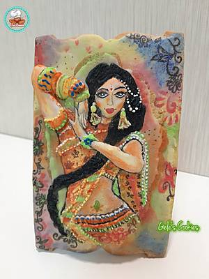 Indian culture cookie (online competition) - Cake by Gele's Cookies