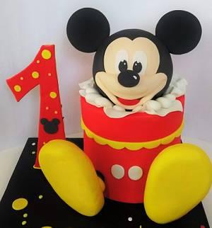 Mickey Mouse cake - Cake by Clara