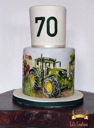 70th Farm Cake  - Cake by Calli Creations