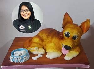 Cake tallado de mascota KIRA - Cake by MILUSKA VILLANUEVA CAVERO